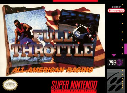 Full Throttle All American Racing Snes Snes Super Nintendo Play All The Unblocked Retro Games Online In Your Browser With Your Pc Mac Or Android Ios Devices Nes Snes Gba